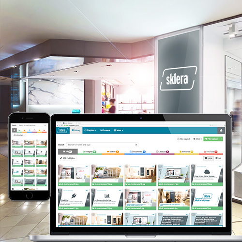 sklera - digital signage software
